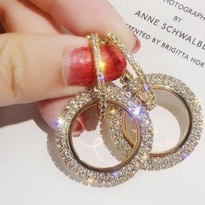 💋Just In💋 Full Rhinestone Zircon Earrings
